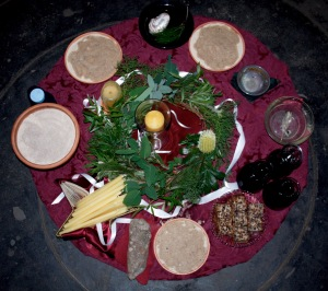 Winter Solstice altar - MoonCourt