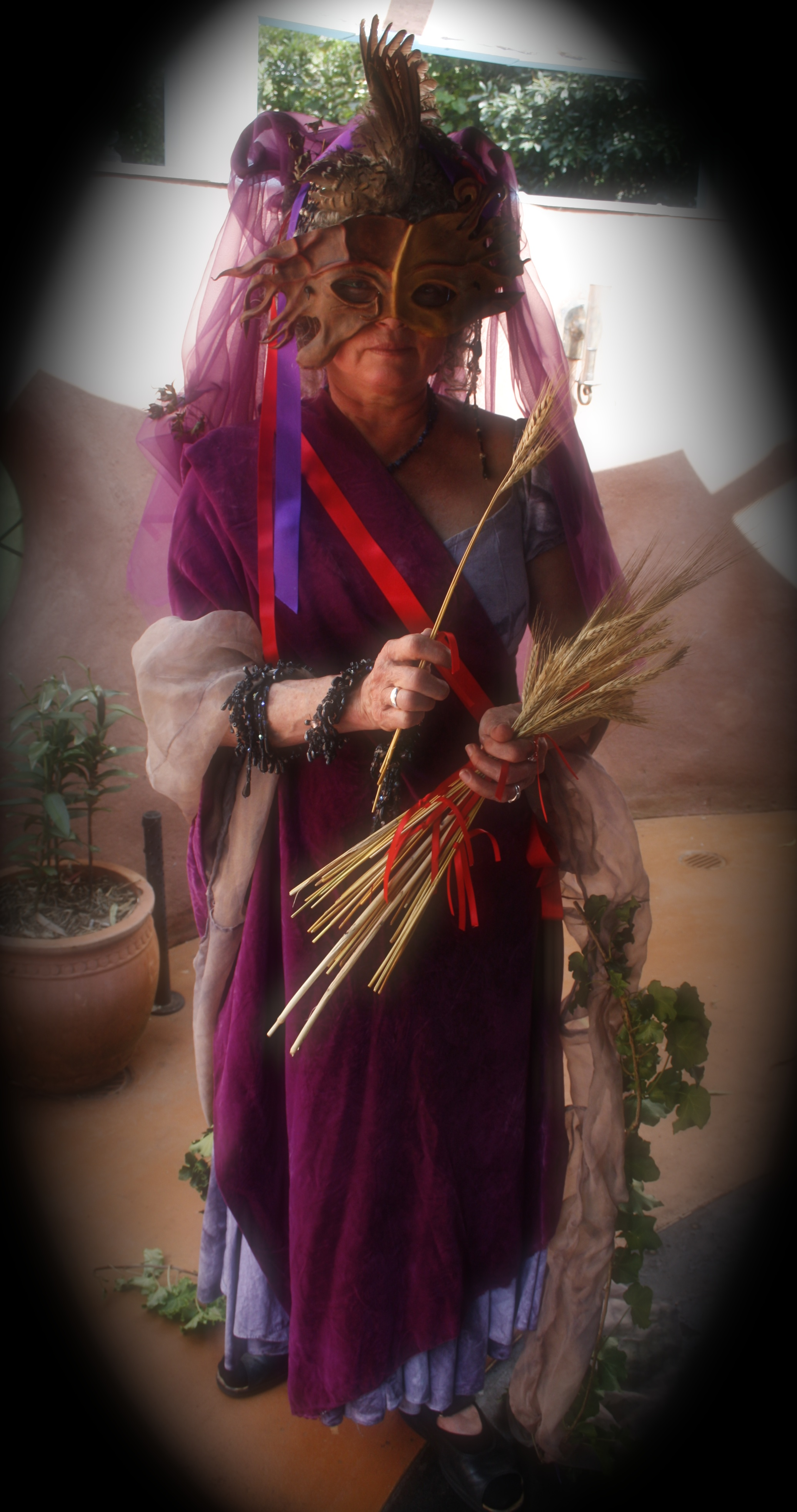 Demeter offers the wheat - the harvest of every moment. photo: Taffy Seaborne, MoonCourt, Australia, Autumn Equinox 2012