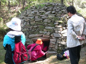 Entering womb-place on Ganghwa Island